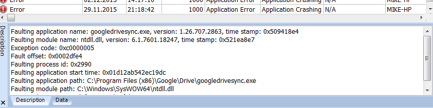 explorer exe application error the instruction at
