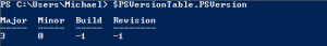 Getting Powershell version