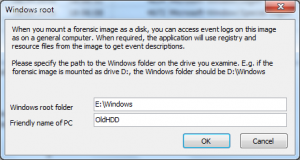 Addimaged computer dialog