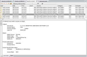 file system auditing