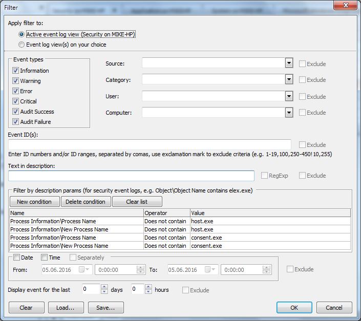 Process tracking with Event Log Explorer | Event Log