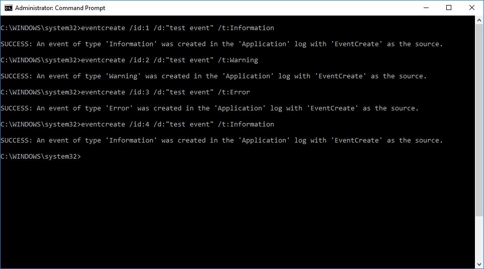 EventCreate command